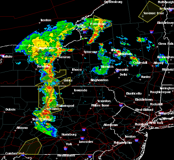 Radar Image for Severe Thunderstorms near West Elmira, NY at 8/4/2017 6:57 PM EDT
