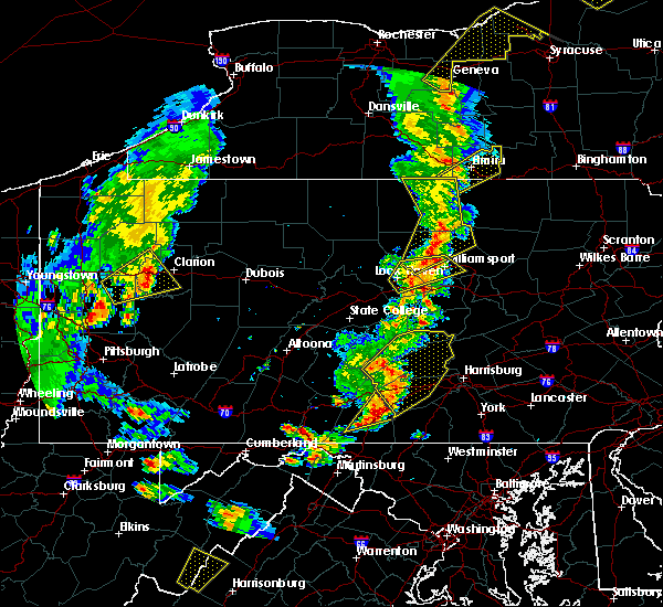 Radar Image for Severe Thunderstorms near Orrstown, PA at 8/4/2017 7:21 PM EDT