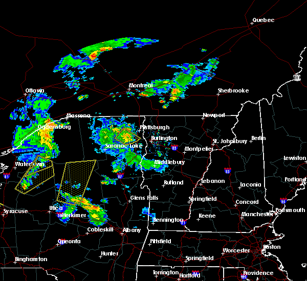 Radar Image for Severe Thunderstorms near Au Sable Forks, NY at 8/4/2017 7:24 PM EDT