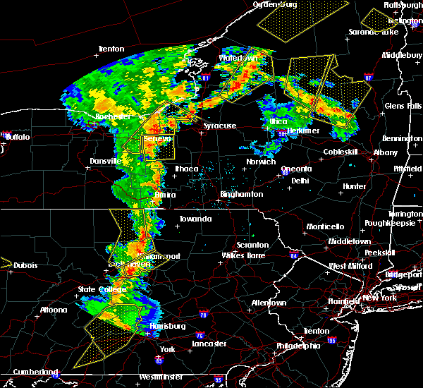 Radar Image for Severe Thunderstorms near Auburn, NY at 8/4/2017 7:42 PM EDT