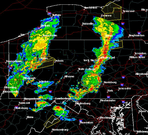 Radar Image for Severe Thunderstorms near New Bethlehem, PA at 8/4/2017 7:55 PM EDT