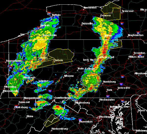 Radar Image for Severe Thunderstorms near Force, PA at 8/4/2017 7:58 PM EDT