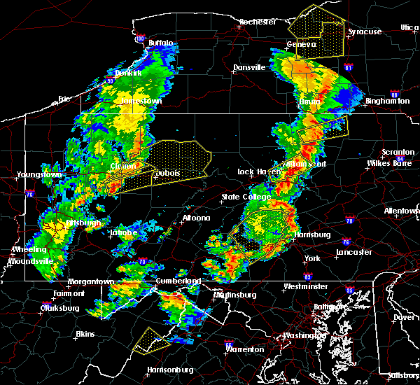 Radar Image for Severe Thunderstorms near Hometown, PA at 8/4/2017 8:16 PM EDT