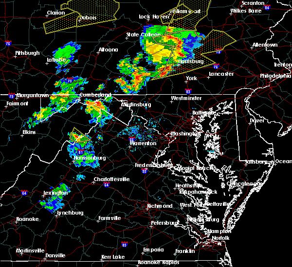 Radar Image for Severe Thunderstorms near Basye, VA at 8/4/2017 8:20 PM EDT