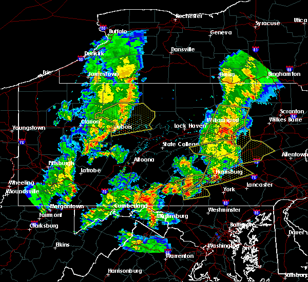 Radar Image for Severe Thunderstorms near New Columbus, PA at 8/4/2017 9:00 PM EDT