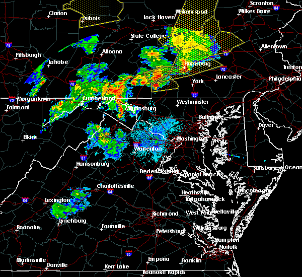 Radar Image for Severe Thunderstorms near Hampton, PA at 8/4/2017 8:59 PM EDT