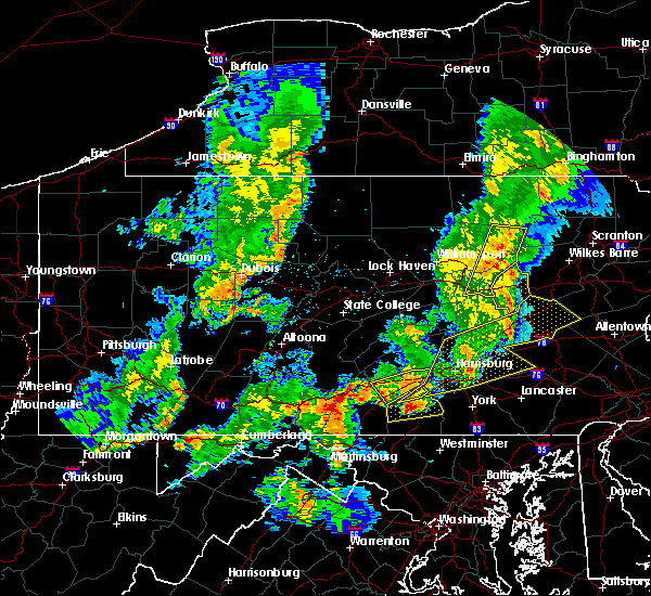 Radar Image for Severe Thunderstorms near Hershey, PA at 8/4/2017 9:20 PM EDT