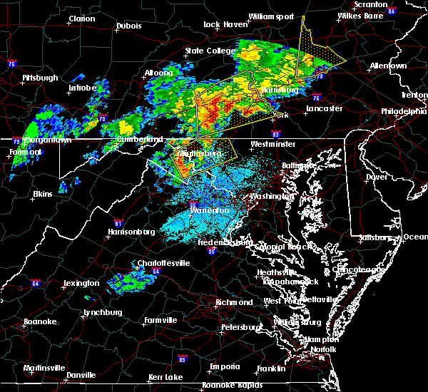 Radar Image for Severe Thunderstorms near Brunswick, MD at 8/4/2017 9:54 PM EDT