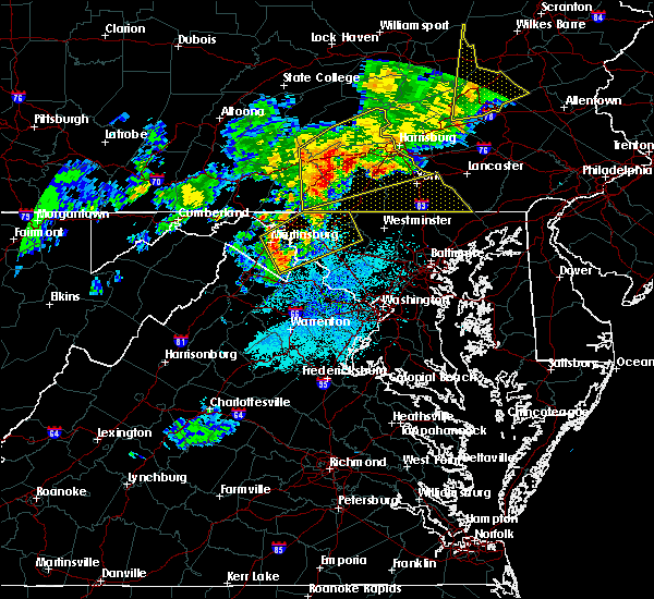 Radar Image for Severe Thunderstorms near Yorkana, PA at 8/4/2017 9:57 PM EDT