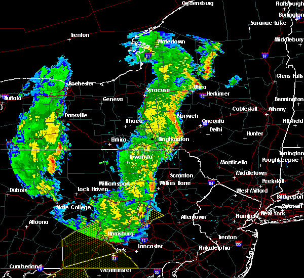 Radar Image for Severe Thunderstorms near Hometown, PA at 8/4/2017 10:09 PM EDT