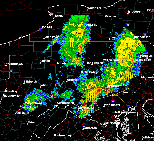 Radar Image for Severe Thunderstorms near Hopeland, PA at 8/4/2017 10:16 PM EDT
