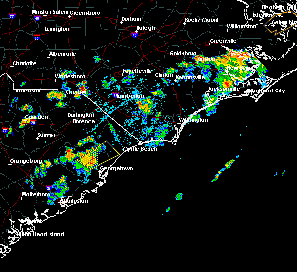 Radar Image for Severe Thunderstorms near Myrtle Beach, SC at 8/7/2017 3:51 PM EDT