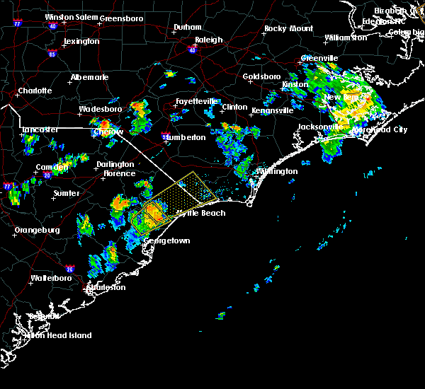 Radar Image for Severe Thunderstorms near Myrtle Beach, SC at 8/7/2017 4:25 PM EDT