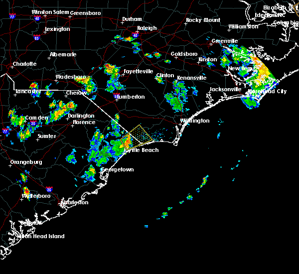 Radar Image for Severe Thunderstorms near Myrtle Beach, SC at 8/7/2017 4:59 PM EDT