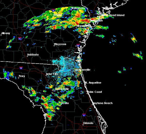 Radar Image for Severe Thunderstorms near Jacksonville, FL at 8/9/2017 3:27 PM EDT
