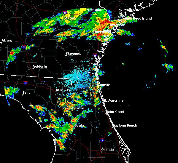 Radar Image for Severe Thunderstorms near Jacksonville, FL at 8/9/2017 3:54 PM EDT