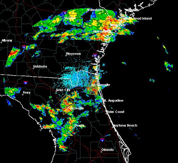 Radar Image for Severe Thunderstorms near Jacksonville, FL at 8/9/2017 4:15 PM EDT