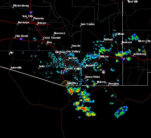 Radar Image for Severe Thunderstorms near Beyerville, AZ at 8/9/2017 2:59 PM MST