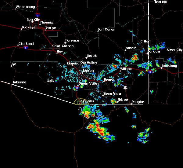 Radar Image for Severe Thunderstorms near Beyerville, AZ at 8/9/2017 3:24 PM MST