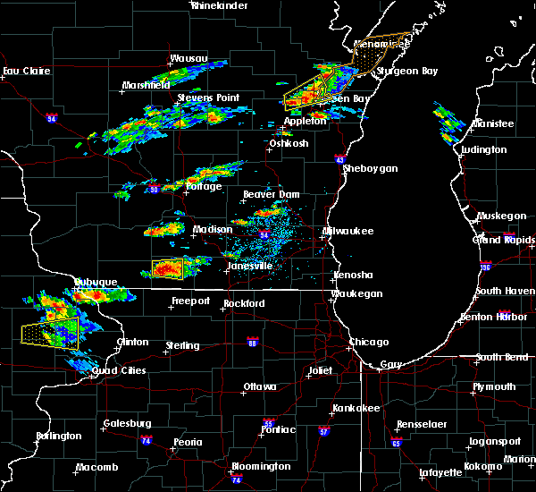 Radar Image for Severe Thunderstorms near Monticello, WI at 8/10/2017 2:30 PM CDT