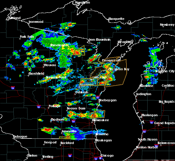 Radar Image for Severe Thunderstorms near Howard, WI at 8/10/2017 3:54 PM CDT