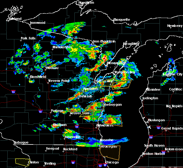 Radar Image for Severe Thunderstorms near Casco, WI at 8/10/2017 4:44 PM CDT