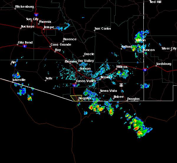 Radar Image for Severe Thunderstorms near Beyerville, AZ at 8/10/2017 2:50 PM MST