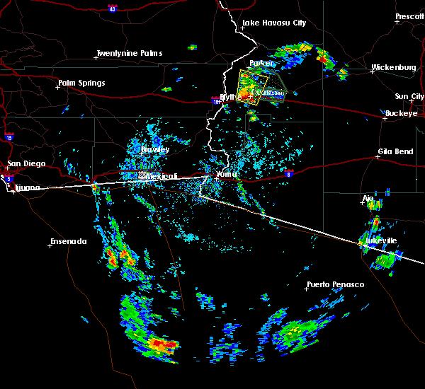 Radar Image for Severe Thunderstorms near Bouse, AZ at 8/10/2017 3:17 PM MST