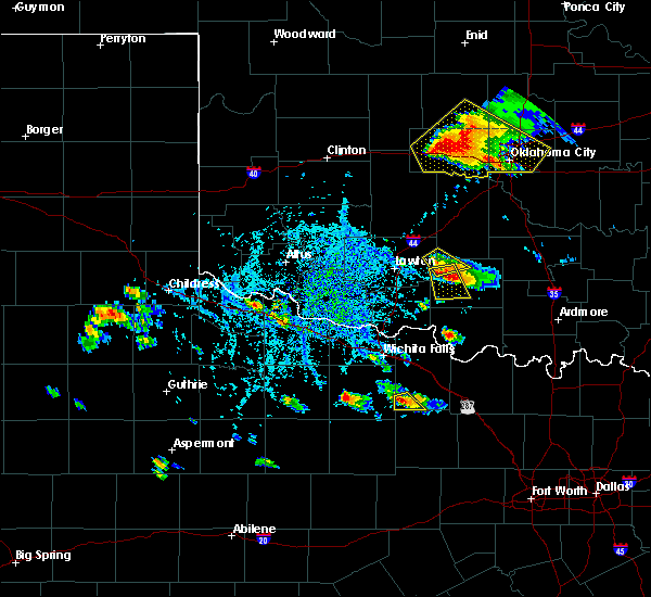 Radar Image for Severe Thunderstorms near Windthorst, TX at 8/10/2017 5:37 PM CDT