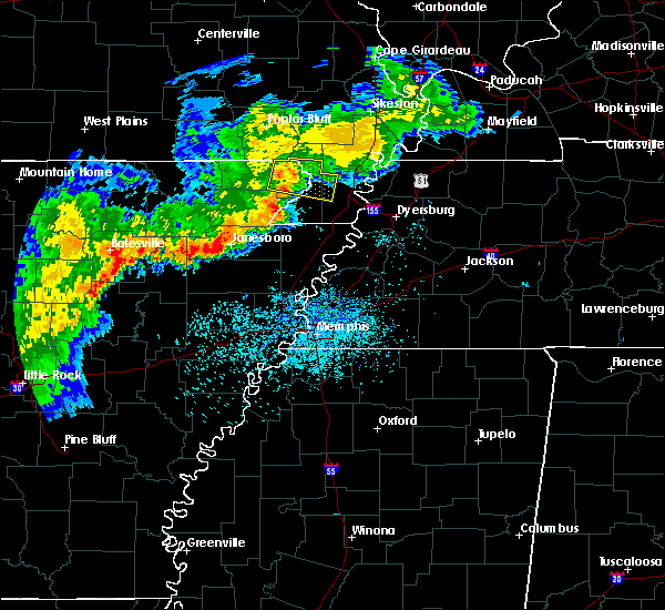 Radar Image for Severe Thunderstorms near Bragg City, MO at 8/11/2017 11:44 AM CDT