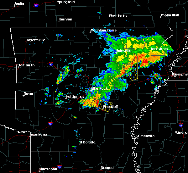 Radar Image for Severe Thunderstorms near Amagon, AR at 8/11/2017 12:36 PM CDT