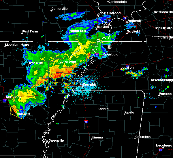 Radar Image for Severe Thunderstorms near West Memphis, AR at 8/11/2017 12:51 PM CDT