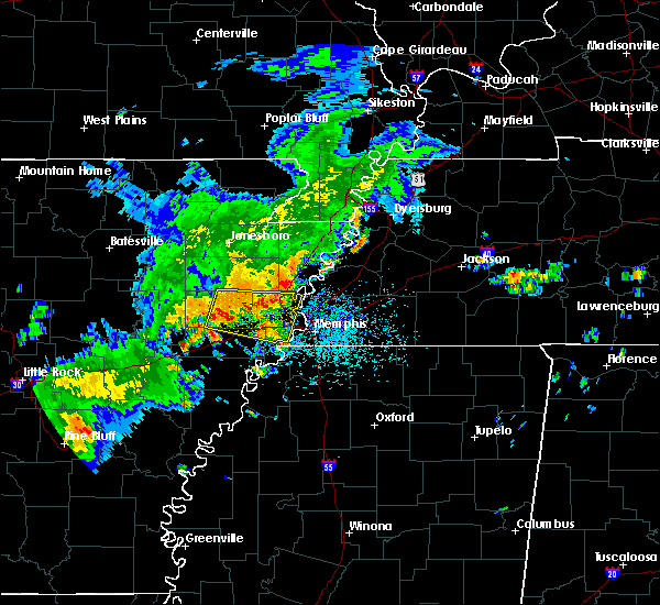 Radar Image for Severe Thunderstorms near West Memphis, AR at 8/11/2017 1:18 PM CDT