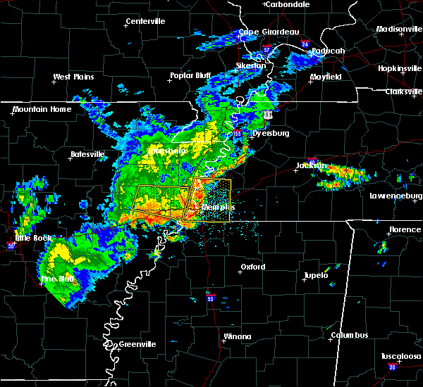 Radar Image for Severe Thunderstorms near West Memphis, AR at 8/11/2017 1:45 PM CDT