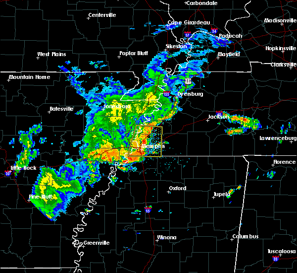 Radar Image for Severe Thunderstorms near West Memphis, AR at 8/11/2017 1:57 PM CDT