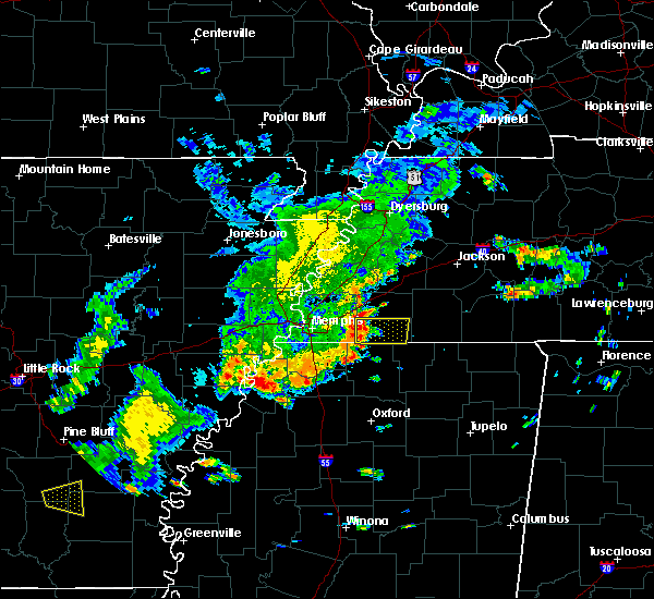 Radar Image for Severe Thunderstorms near Moscow, TN at 8/11/2017 2:34 PM CDT
