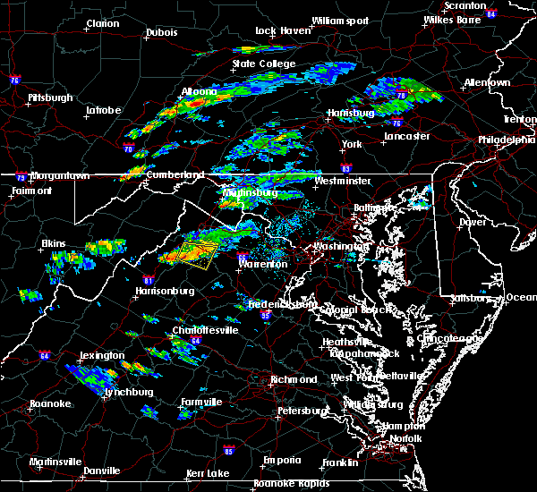 Radar Image for Severe Thunderstorms near Strasburg, VA at 8/11/2017 4:52 PM EDT