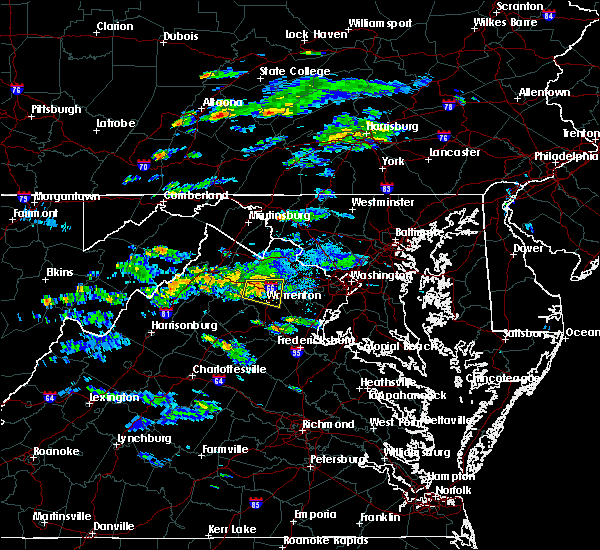 Radar Image for Severe Thunderstorms near The Plains, VA at 8/11/2017 6:01 PM EDT