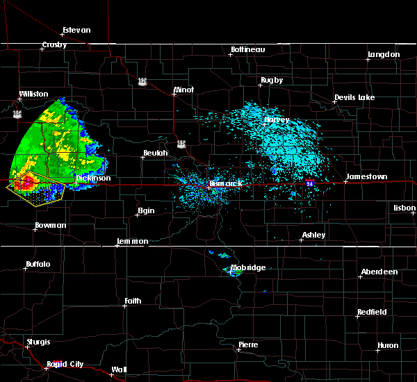 Radar Image for Severe Thunderstorms near South Heart, ND at 8/11/2017 10:02 PM MDT