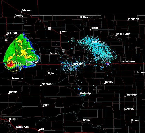 Radar Image for Severe Thunderstorms near South Heart, ND at 8/11/2017 10:17 PM MDT