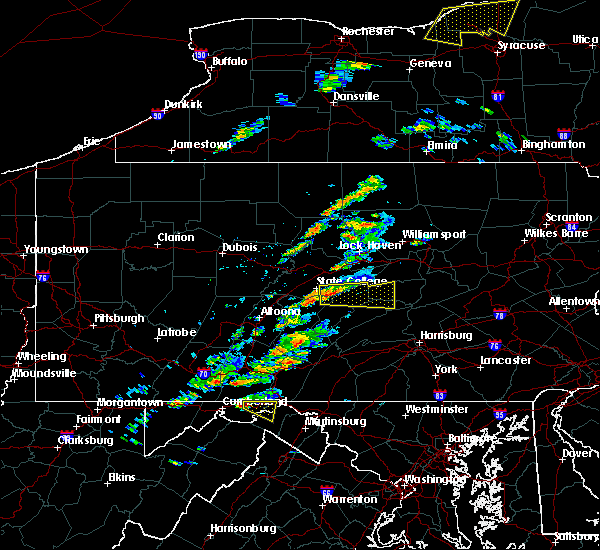 Radar Image for Severe Thunderstorms near Lemont, PA at 8/12/2017 1:57 PM EDT