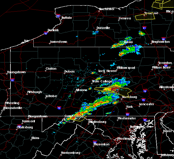 Radar Image for Severe Thunderstorms near Pillow, PA at 8/12/2017 3:29 PM EDT