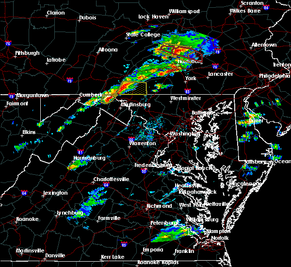 Radar Image for Severe Thunderstorms near Wilson-Conococheague, MD at 8/12/2017 3:53 PM EDT
