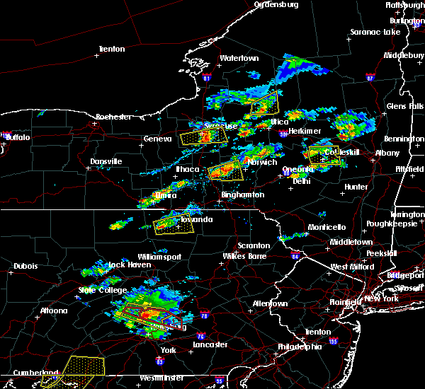 Radar Image for Severe Thunderstorms near Burlington, PA at 8/12/2017 3:54 PM EDT