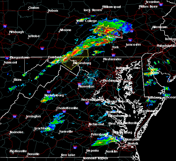 Radar Image for Severe Thunderstorms near Wilson-Conococheague, MD at 8/12/2017 3:54 PM EDT