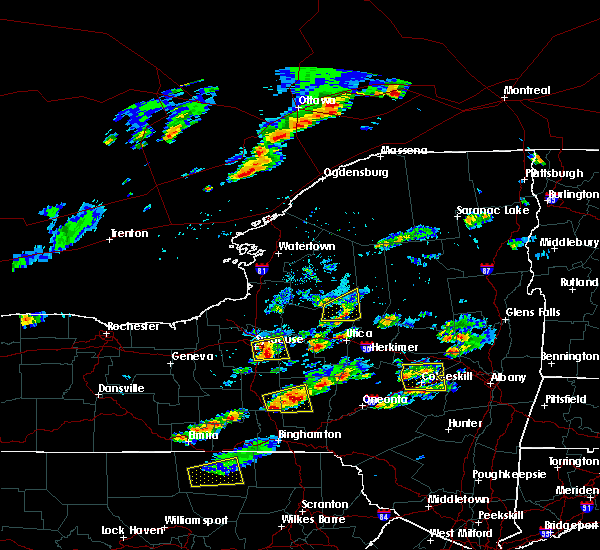 Radar Image for Severe Thunderstorms near Cazenovia, NY at 8/12/2017 3:56 PM EDT