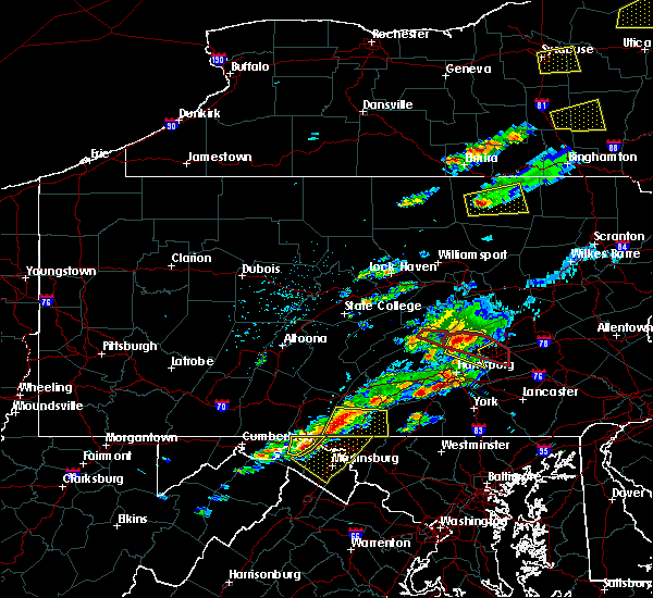 Radar Image for Severe Thunderstorms near Pillow, PA at 8/12/2017 3:56 PM EDT