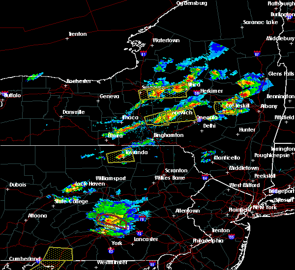 Radar Image for Severe Thunderstorms near Norwich, NY at 8/12/2017 4:12 PM EDT