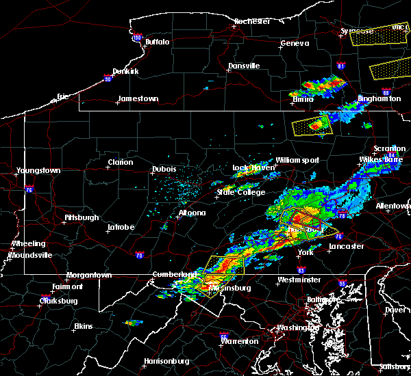 Radar Image for Severe Thunderstorms near Timber Hills, PA at 8/12/2017 4:18 PM EDT