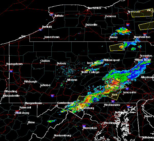 Radar Image for Severe Thunderstorms near Spry, PA at 8/12/2017 4:27 PM EDT